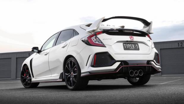 2018 Honda Civic Type R Rear End Championship White