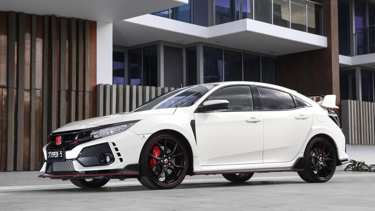 2018 Honda Civic Type R Side Profile Championship White
