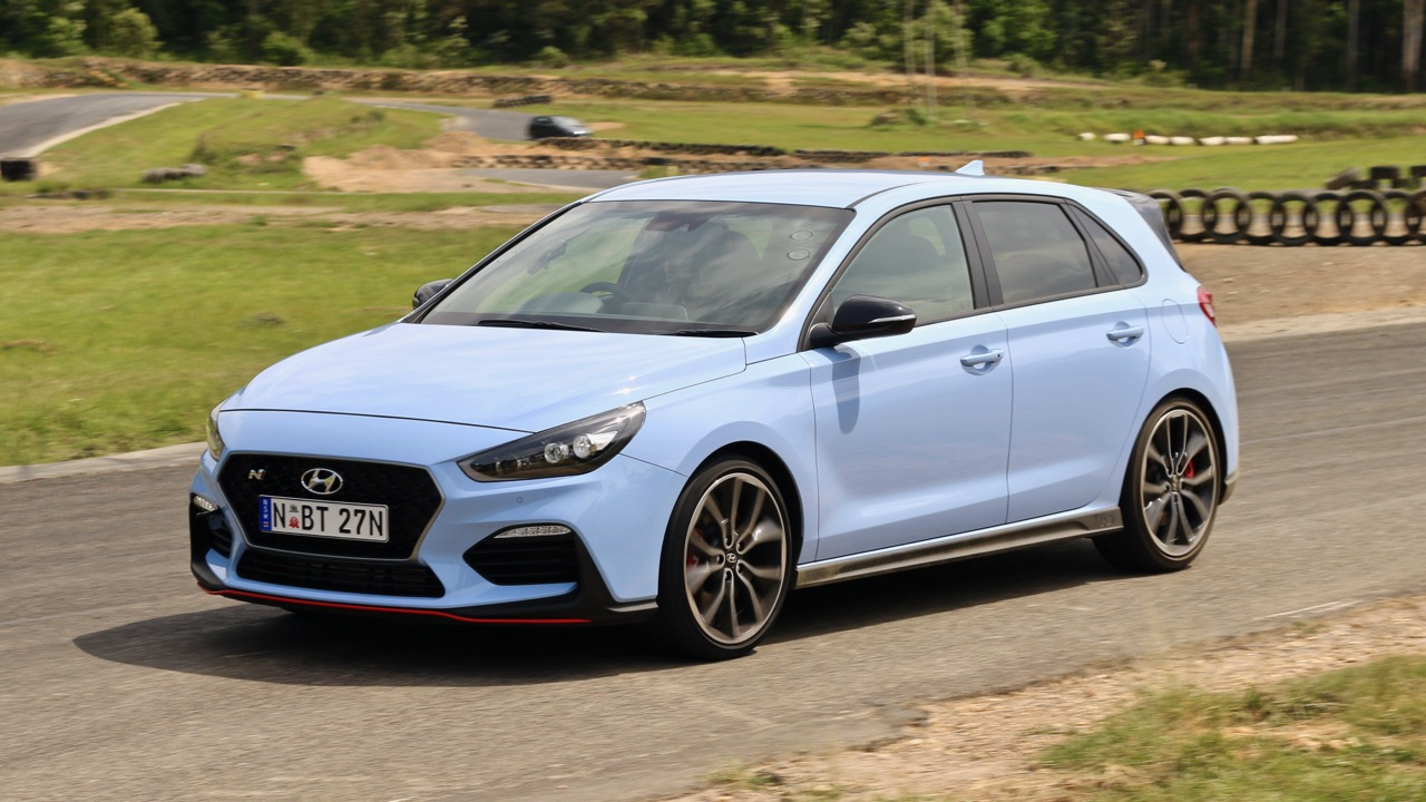 2018 Hyundai i30 N Performance Pack on Track Performance Blue Side Profile