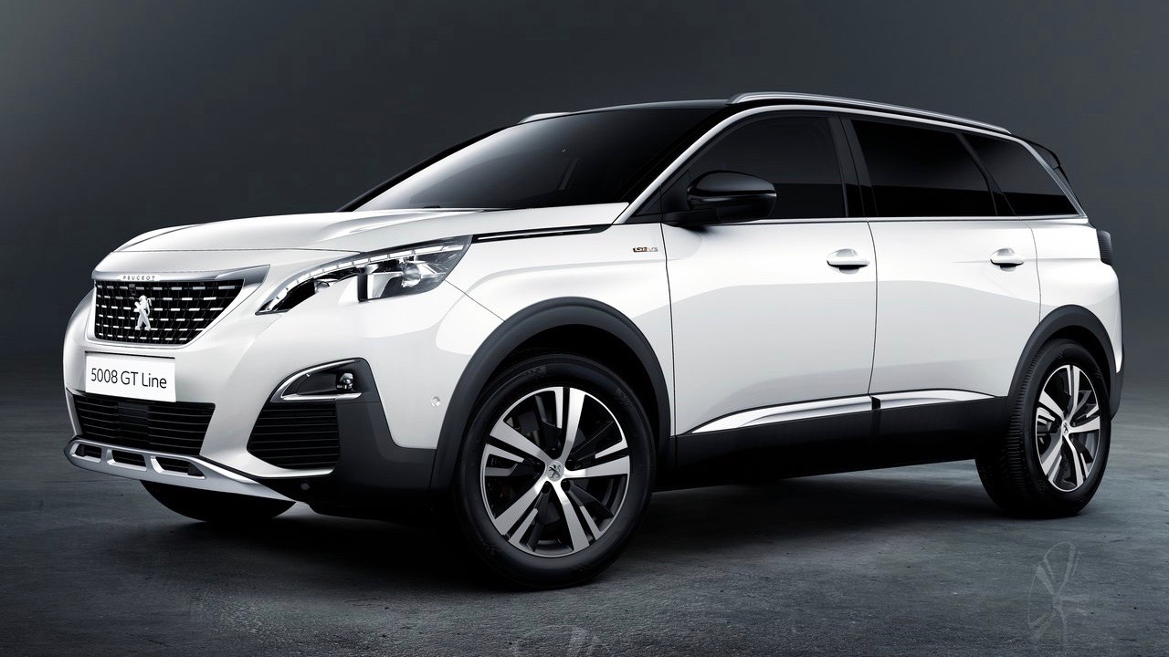 2018 Peugeot 5008 GT-Line white front