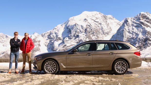 BMW 5 Series Touring Stelvio Pass Alpine