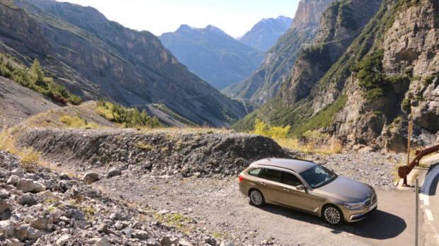 BMW 5 Series Touring Stelvio Pass West Side