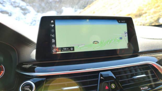 Stelvio Pass Navigation Screen BMW