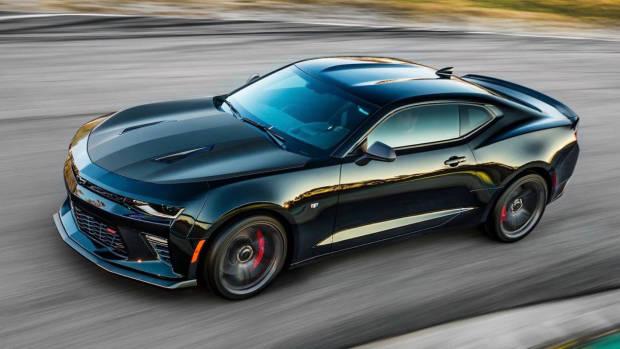 2018 Chevrolet Camaro SS black front side