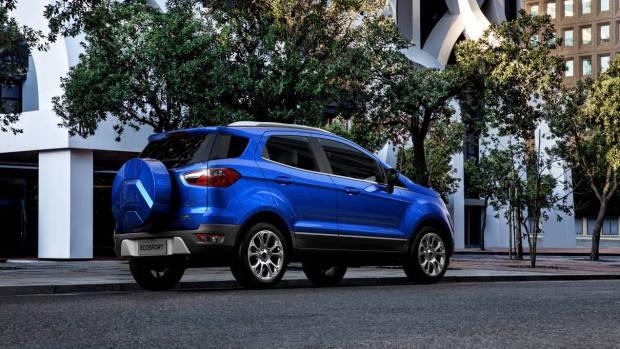 2018 Ford EcoSport blue rear