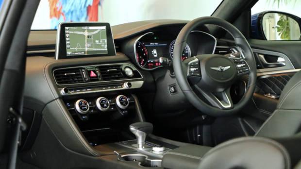 2018 Genesis G70 Black Leather Interior