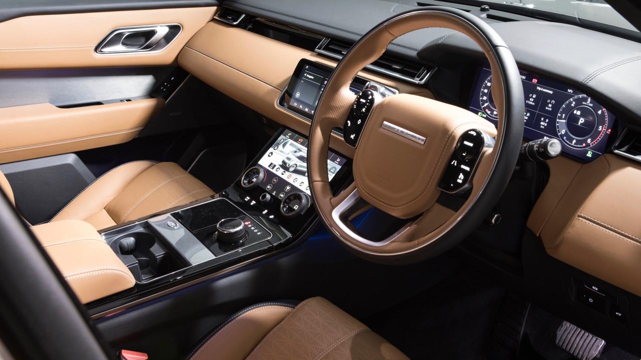 2018 Range Rover Velar R-Dynamic Tan Black Leather Interior