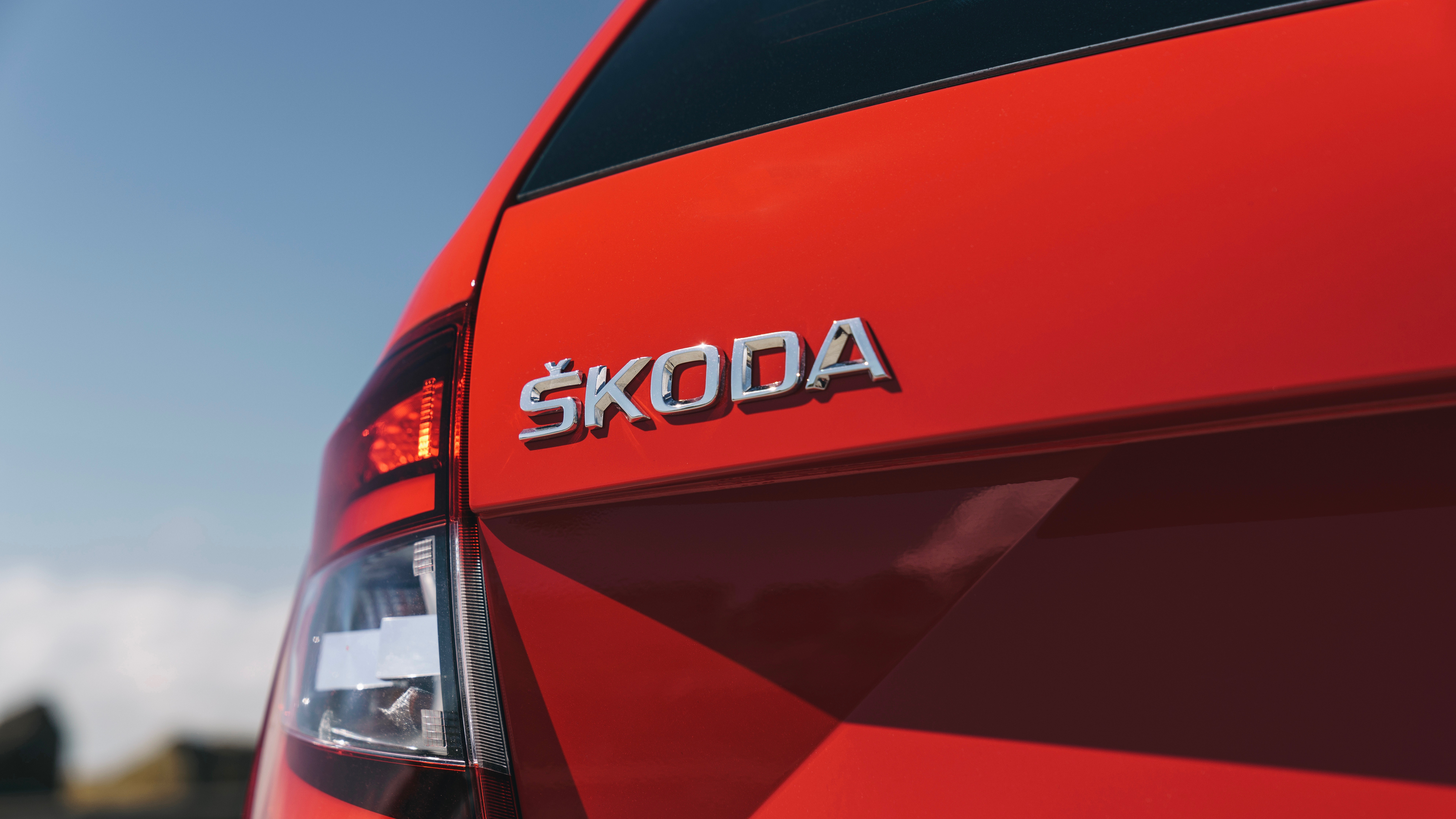 2018 Skoda Octavia RS245 red rear badge