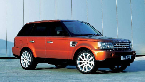 2005 Range Rover Sport Supercharged orange front