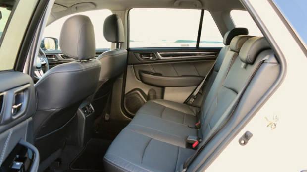 2017 Subaru Outback Premium Black Leather Back Seat Room