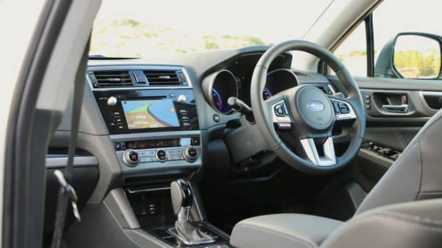 2017 Subaru Outback Premium Black Leather Interior