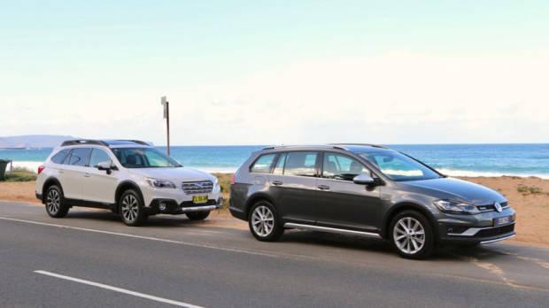 2017 Subaru Outback Volkswagen Golf Alltrack Comparison