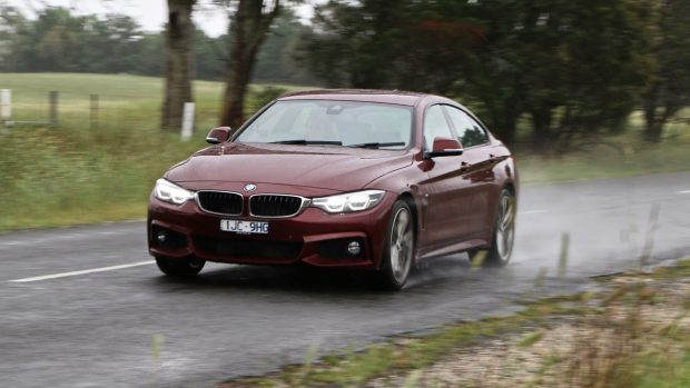 2018 BMW 440i Gran Coupe Review Aventurine Red Driving Front End