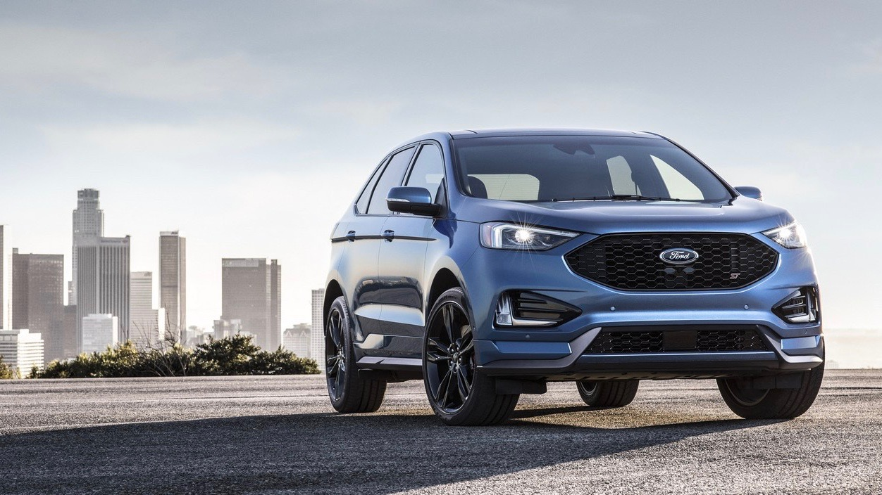 2018 Ford Edge Endura ST Blue Front End Australia