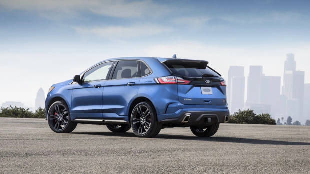 2018 Ford Edge Endura ST Blue Rear End Australia