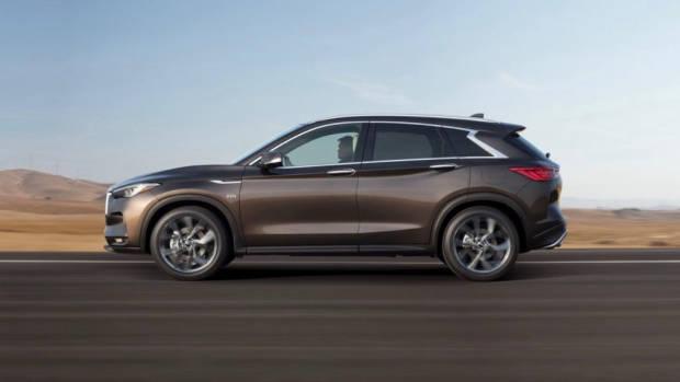 2018 Infiniti QX50 SUV Grey Side Profile