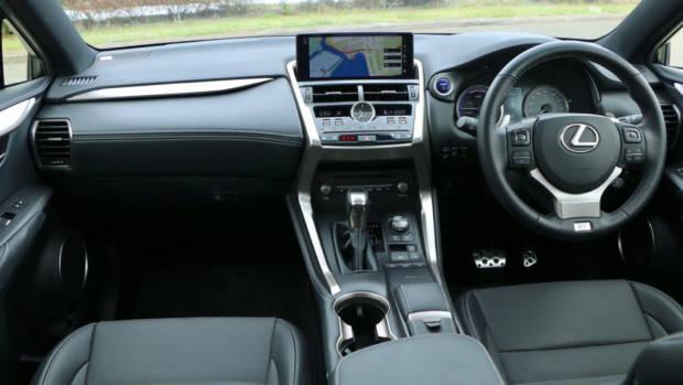 2018 Lexus NX300h F Sport Black Leather Front Interior Australia