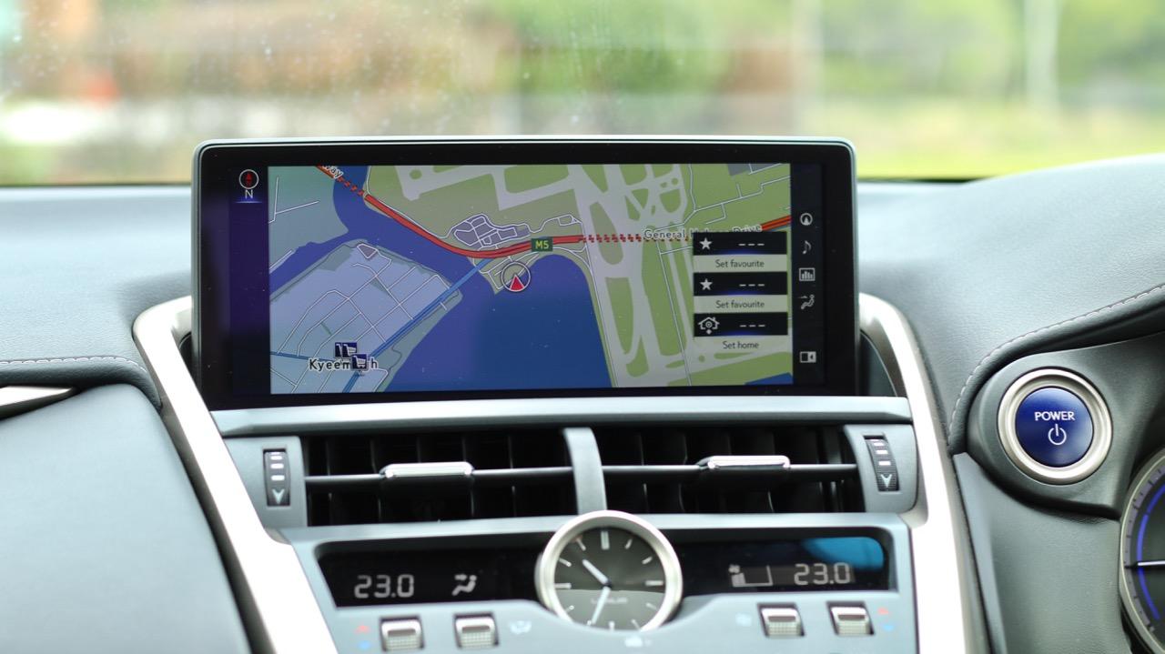 2018 Lexus NX300h F Sport Infotainment Screen Australia