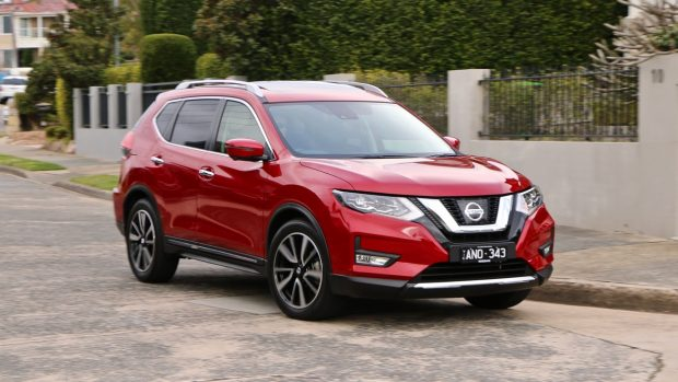 2018 Nissan X-Trail Ti Review Ruby Red Cornering
