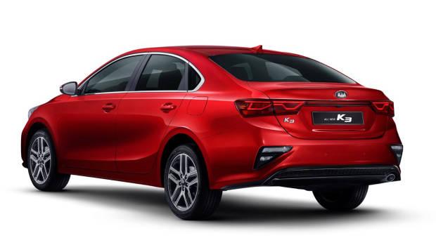 2019 Kia Cerato sedan red rear