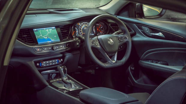 2018 Holden Commodore Calais V Tourer Black Leather Interior