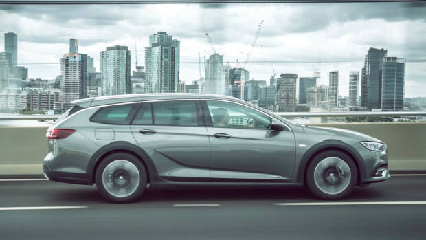 2018 Holden Commodore Calais V Tourer Cosmic Grey Profile On Road