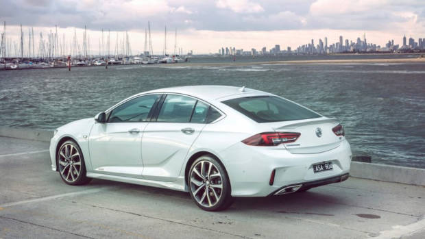 2018 Holden Commodore VXR Abalone White Rear End