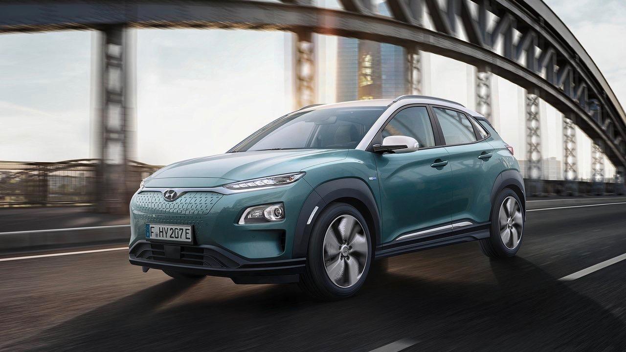 2018 Hyundai Kona Electric front motion