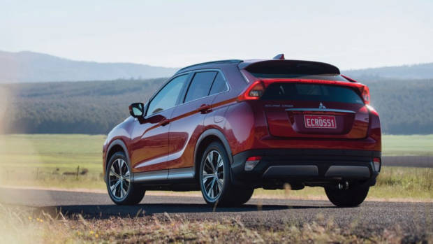 2018 Mitsubishi Eclipse Cross Review Red Diamond Static Rear End
