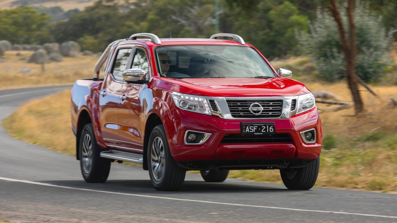 2018 Nissan Navara ST-X Review Burning Red Front End Driving