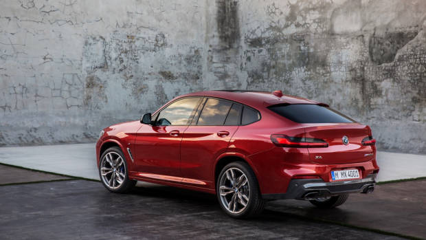 2019 BMW X4 M40i red rear 3/4