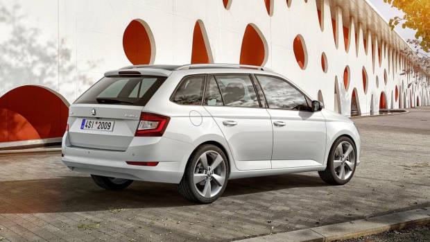2019 Skoda Fabia white wagon rear