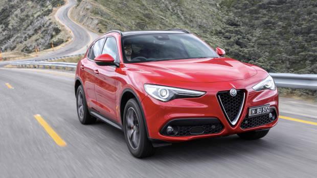 2018 Alfa Romeo Stelvio First Edition red 3/4 moving