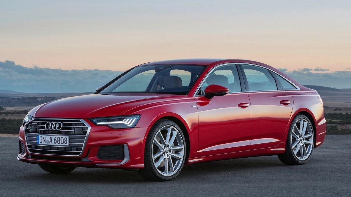2018 Audi A6 TFSI red front