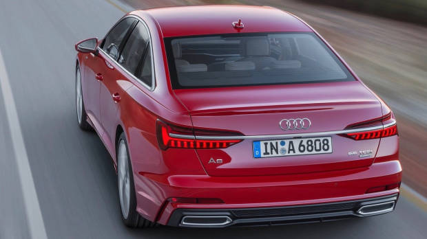 2018 Audi A6 TFSI red rear moving