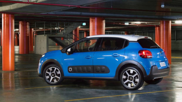 2018 Citroen C3 Review Shine Cobalt Blue Rear End