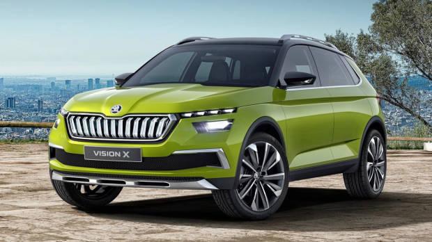 2018 Skoda Vision X Concept front 3/4