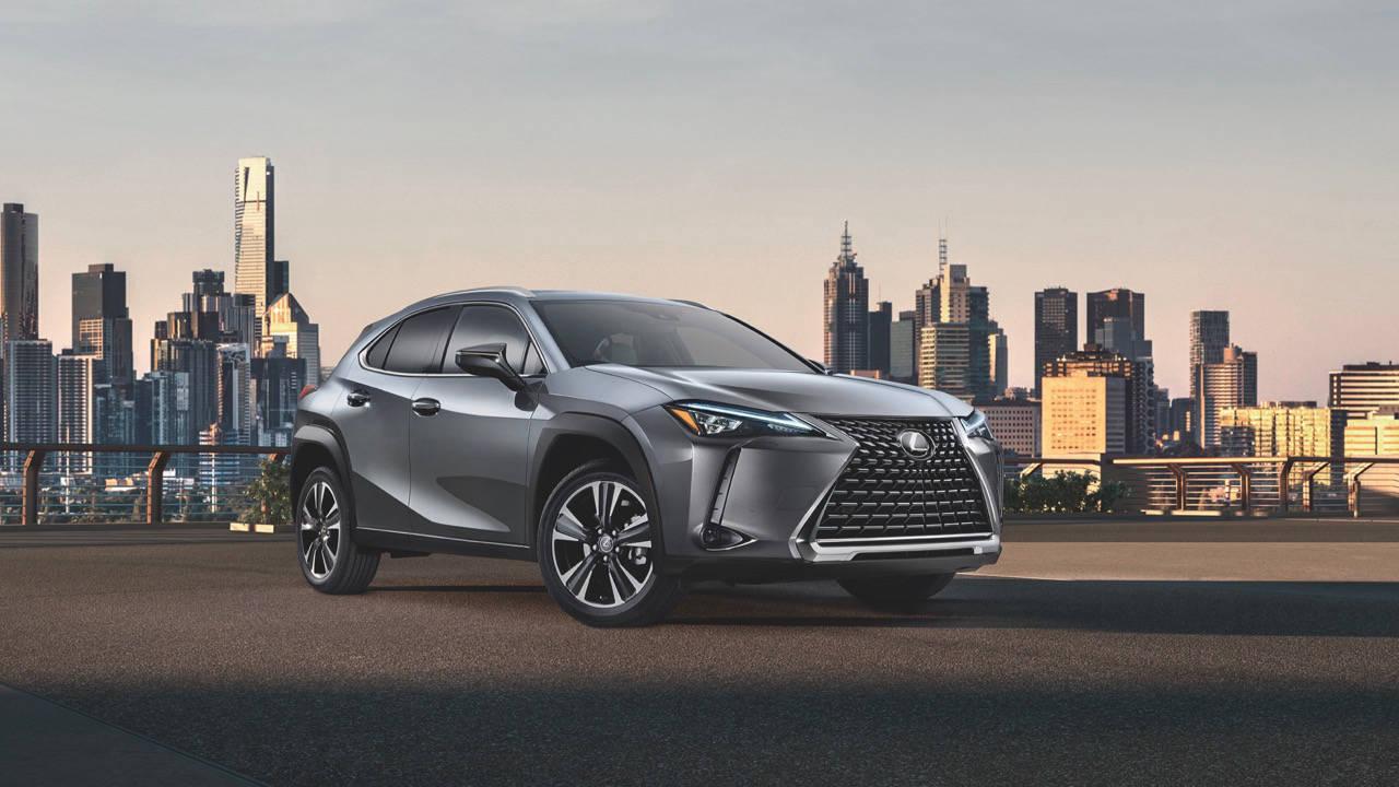 2019 Lexus UX grey front 3/4