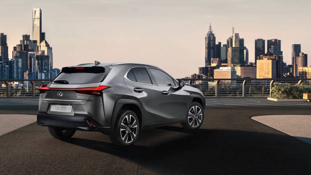 2019 Lexus UX grey rear 3/4