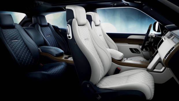 2019 Range Rover SV Coupe interior layout