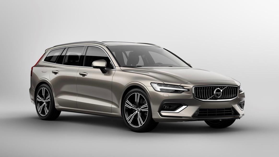 2019 Volvo V60 beige front 3/4