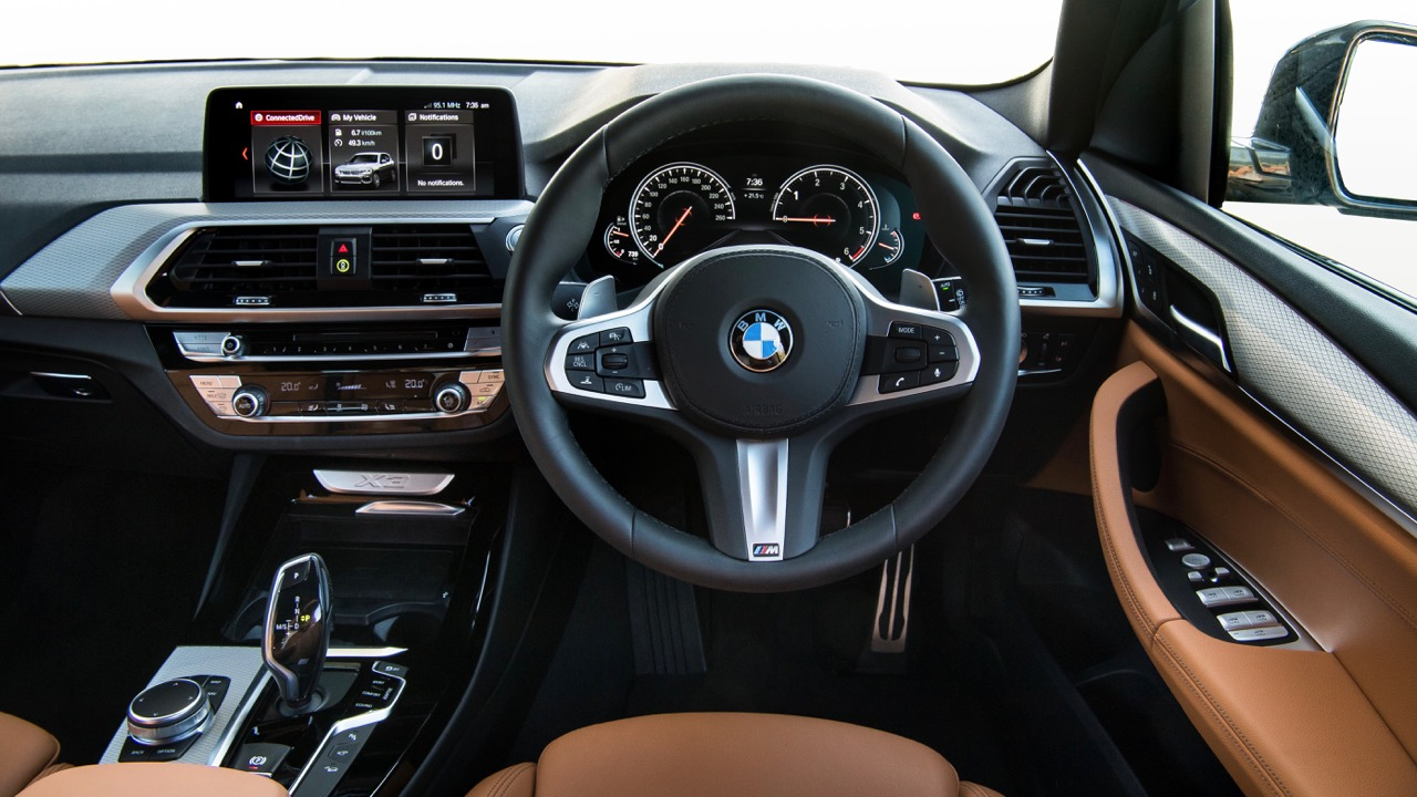 2018 BMW X3 Review Front Dashboard Cognac Leather