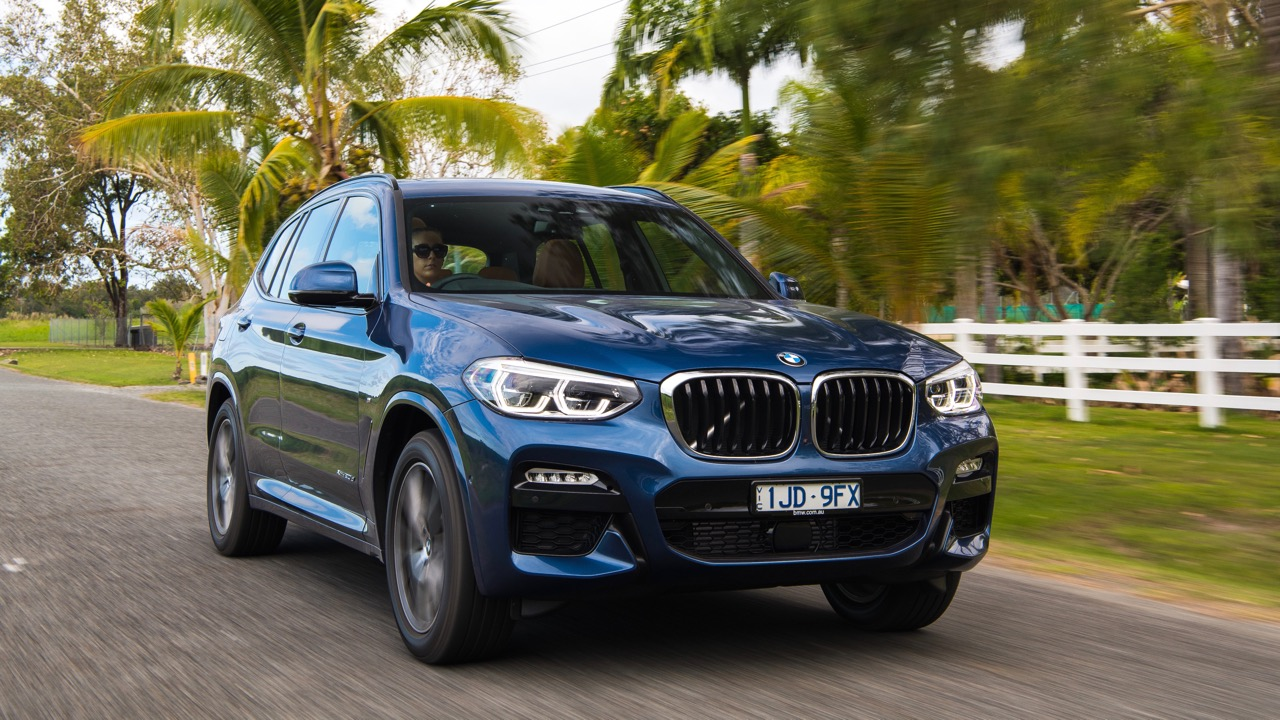 2018 BMW X3 Review Phytonic Blue M Sport Front End