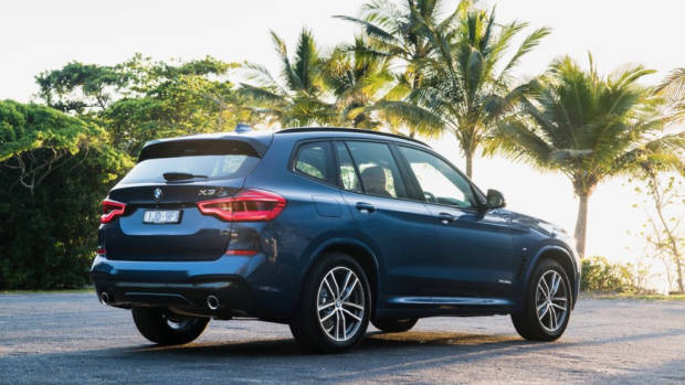 2018 BMW X3 Review Phytonic Blue M Sport Rear End