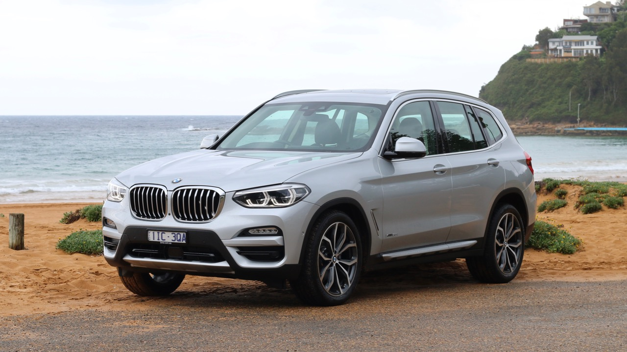 2018 BMW X3 review Glacier Silver Front End