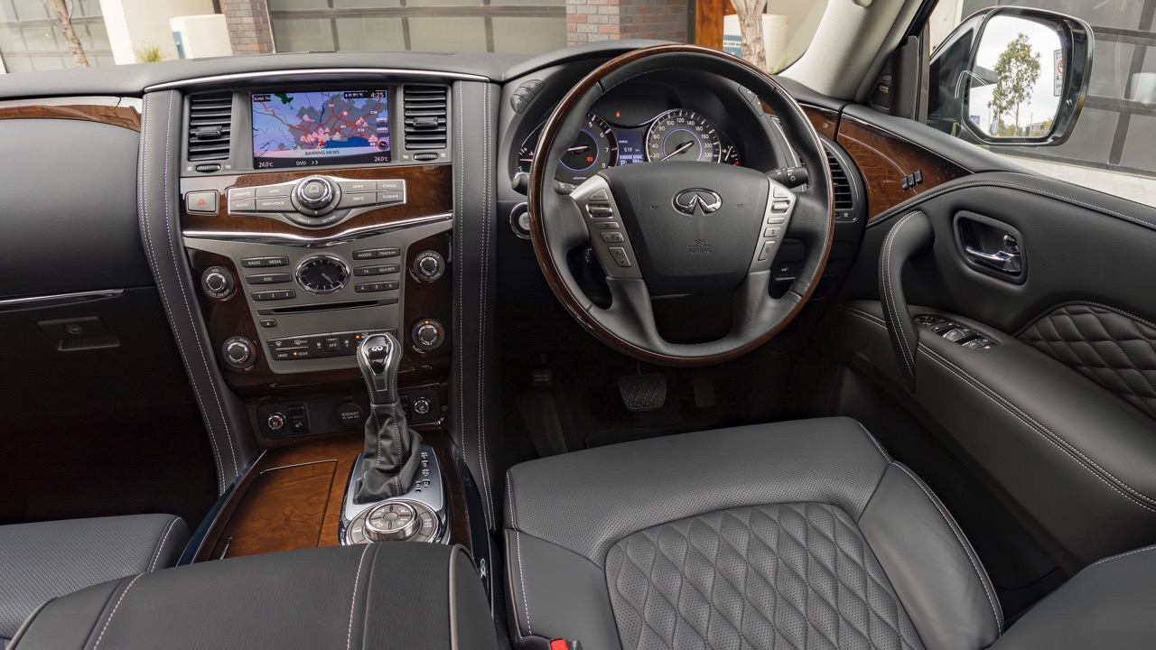2018 Infiniti QX80 Review Dashboard Quilted Leather
