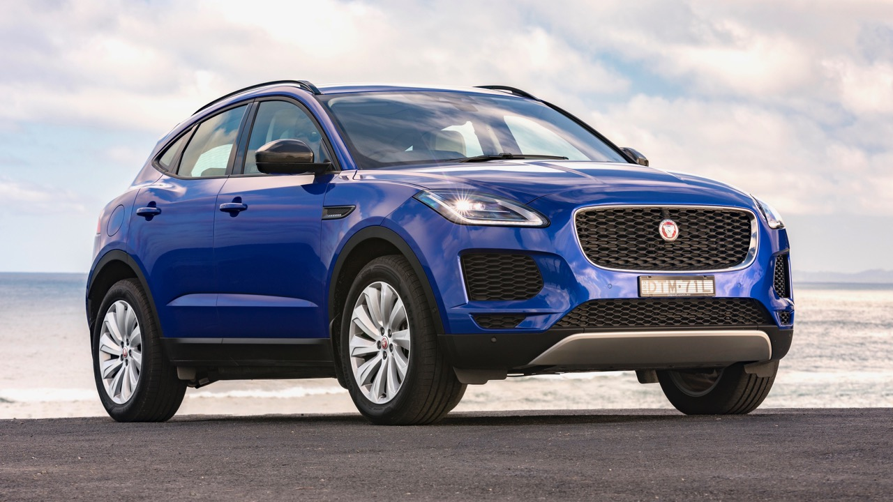 2018 Jaguar E-Pace review P250 Caesium Blue front end