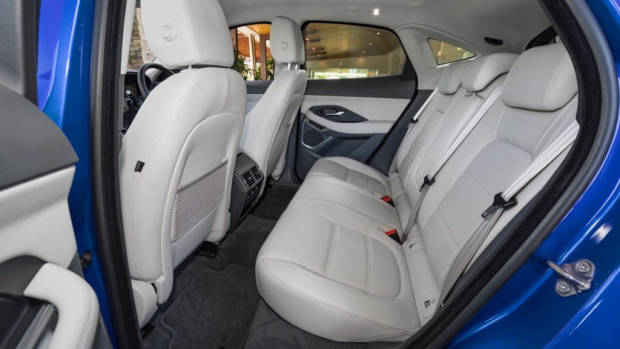 2018 Jaguar E-Pace review P250 Oyster grey leather back seat