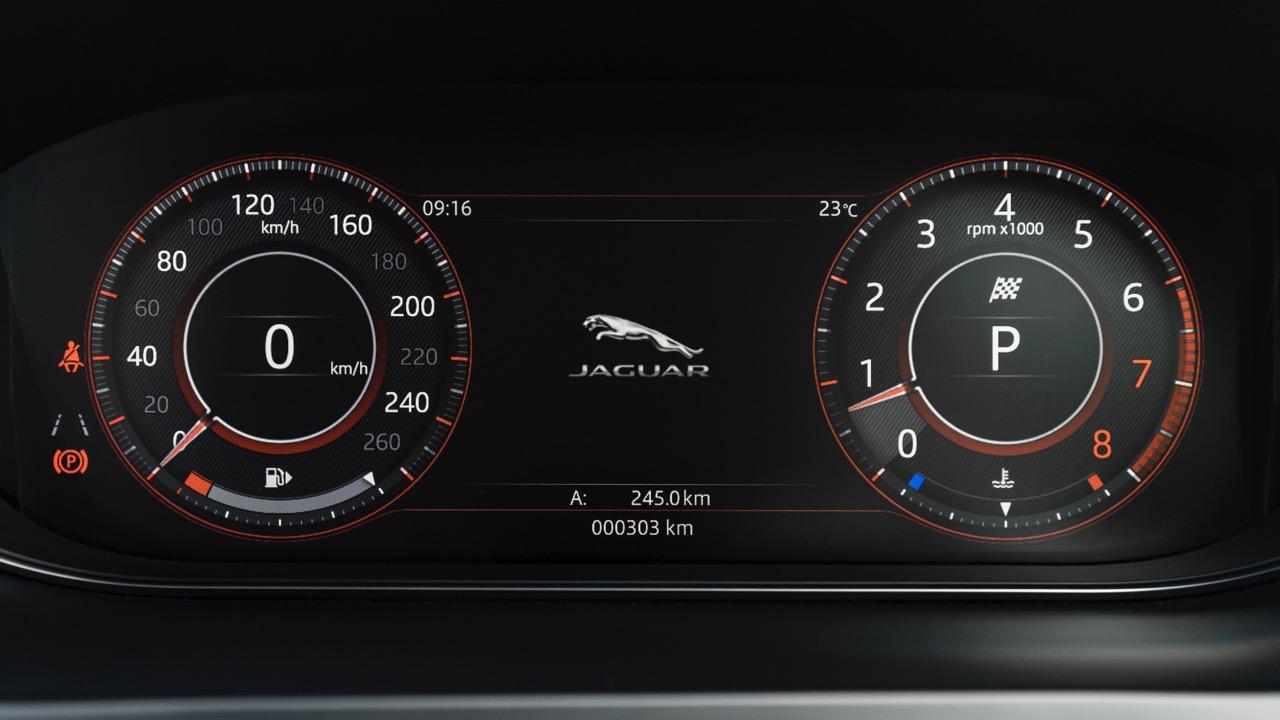 2018 Jaguar E-Pace review P250 digital gauges