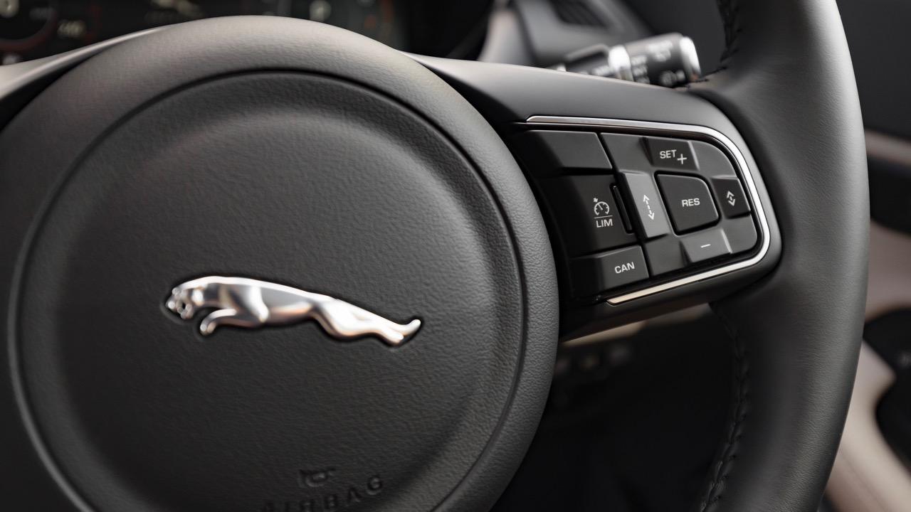2018 Jaguar E-Pace review P250 steering wheel